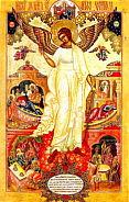 Икона Ангел-хранитель с деяниями, XIX в.